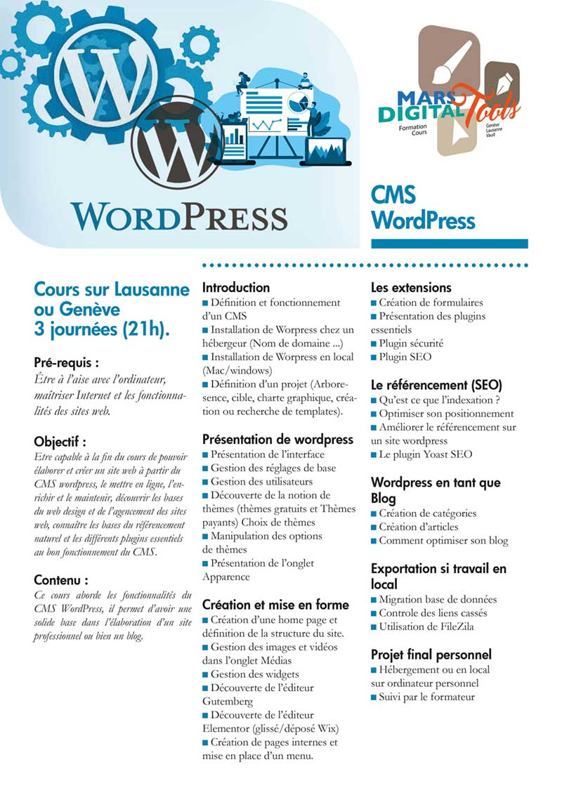 Cours wordpress